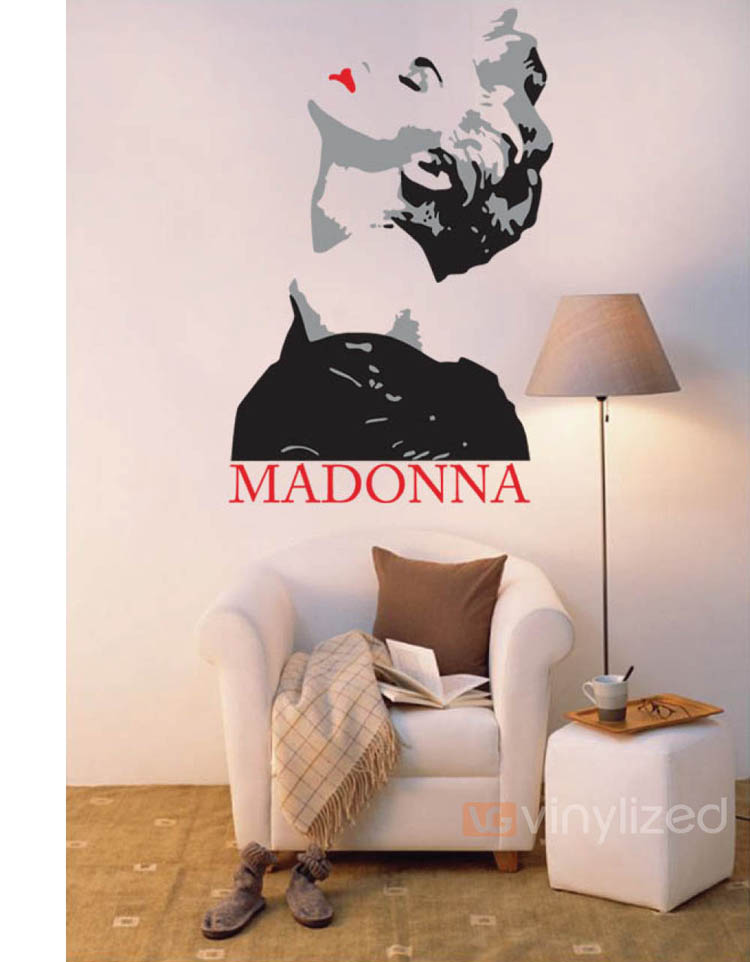1PA022 - Madonna Wall Decal Sticker