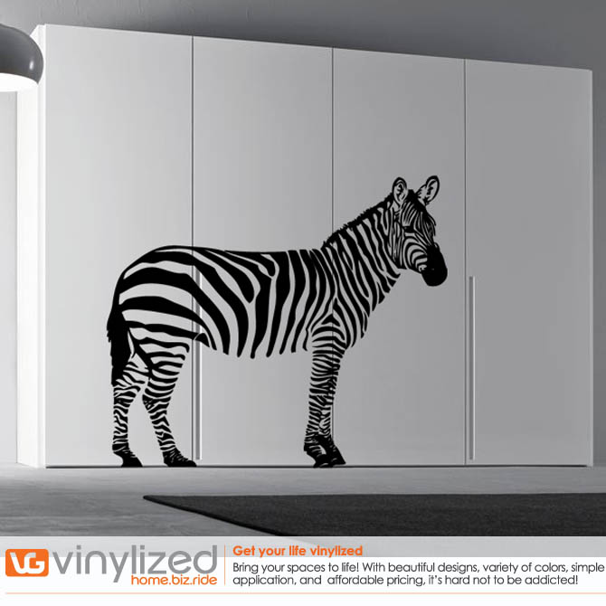 2NA008 - Zebra Wall Decal Sticker