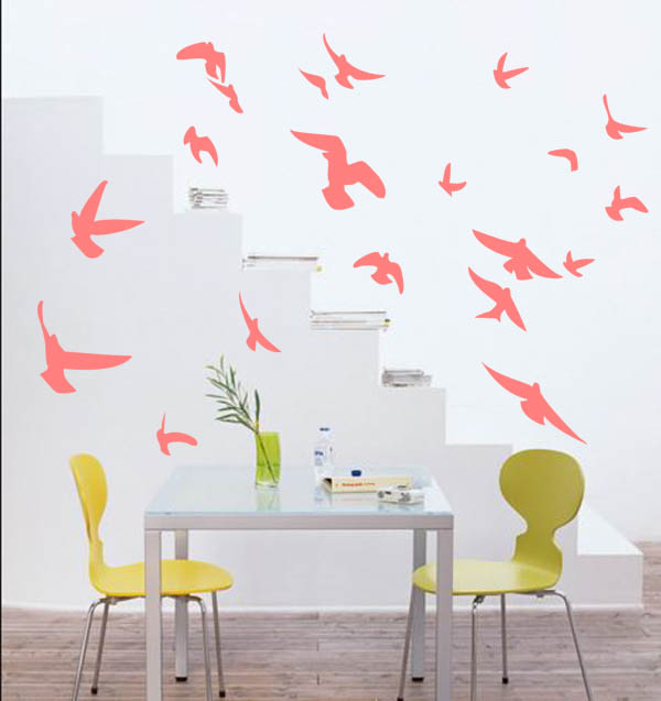 2NA035 - Bird Flock Flying 1 Wall Decal Sticker