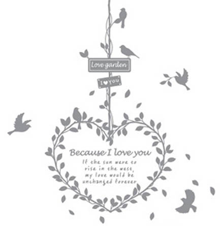 2NB113 - Bird Message Wall Decal Sticker