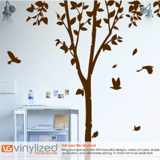 2NB116 - Long Tree Wall Decal Sticker