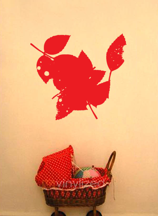 7SD003 - Fall Leaves Wall Decal Sticker