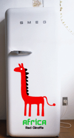 3KA002 - Africa Giraff Wall Decal Sticker