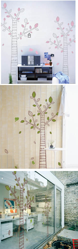 3KA044 - Comic Tree 3 Wall Decal Sticker