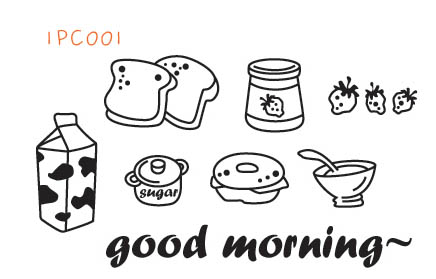 4MC051 - Good Morning Breakfast Wall Decal Sticker
