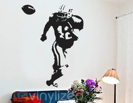 5HB020 - Football Receiver Wall Decal Sticker