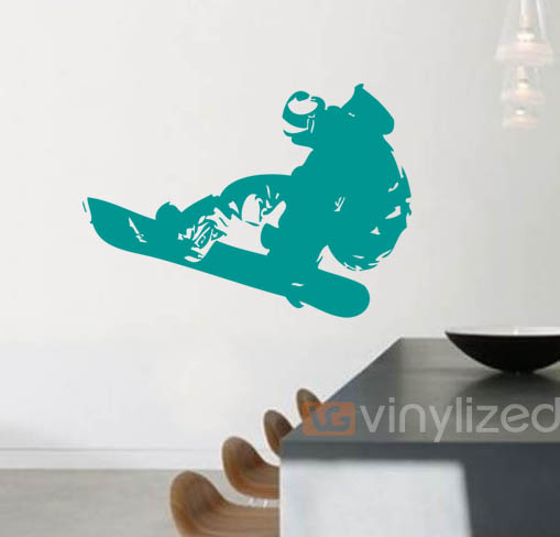 5HB040 - Snowboarder Wall Decal Sticker