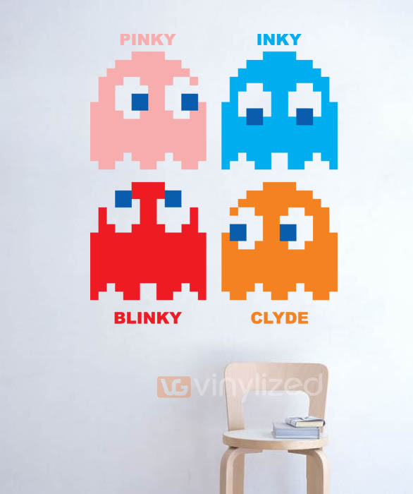 5HD021 - Pac Man Bad Guys Wall Decal Sticker