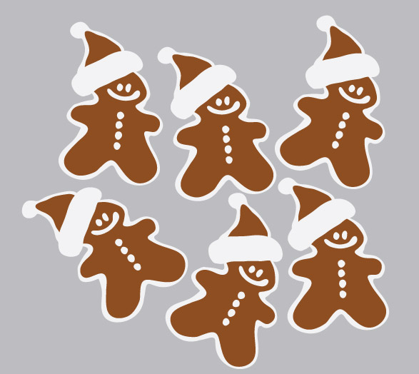6MC442 - Ginger Bread Man 1 Wall Decal Sticker