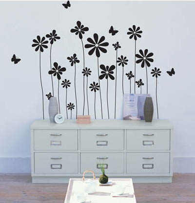 6MG104 - Flower Illustration Wall Decal Sticker