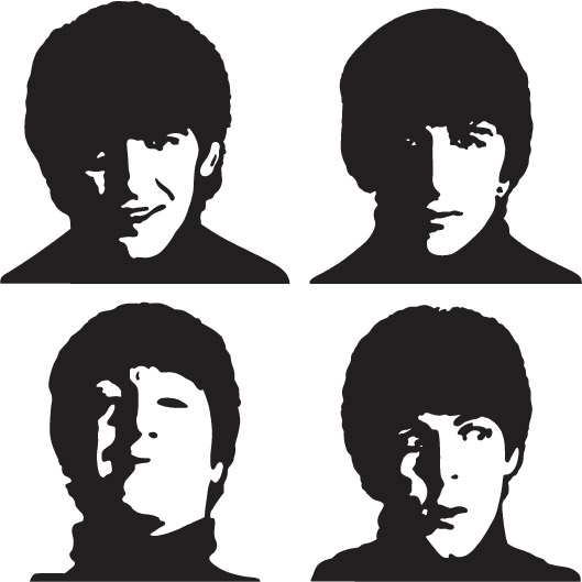 1PA002 u2013 Beatles Wall Decal Sticker  sc 1 st  Vinylized Graphics : beatles wall decals - www.pureclipart.com