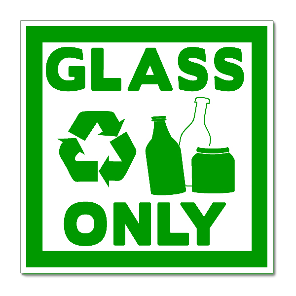 6md007c Recycle Glass Only Vinyl Decal Sticker Sign Vinylized